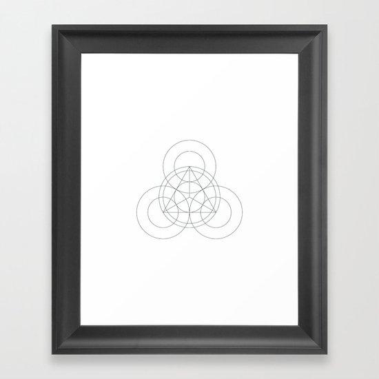 #342 Triple-eyed – Geometry Daily Framed Art Print