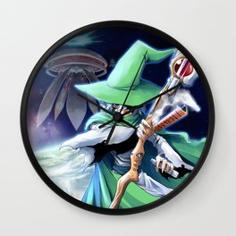 Young Merlin Wall Clock