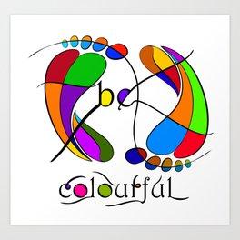 Trapsanella - be colourful Art Print
