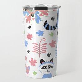 Racoon pattern  Travel Mug