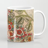 paisley Mugs featuring paisley by Love on a Bike