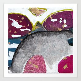 Just Float Hand Painted Acrylic Abstract Art Print