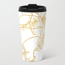 QINGDAO CHINA CITY STREET MAP ART Travel Mug