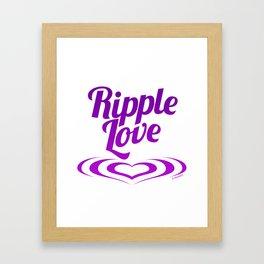 RIPPLE LOVE purple Framed Art Print