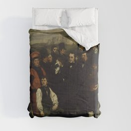 """Gustave Courbet """"A Burial at Ornans"""" Comforters"""