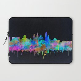 philadelphia city skyline watercolor Laptop Sleeve
