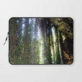 Vines camouflaging a sunken Cave Laptop Sleeve
