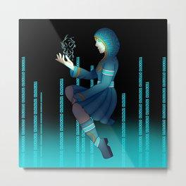 Techno witch Metal Print