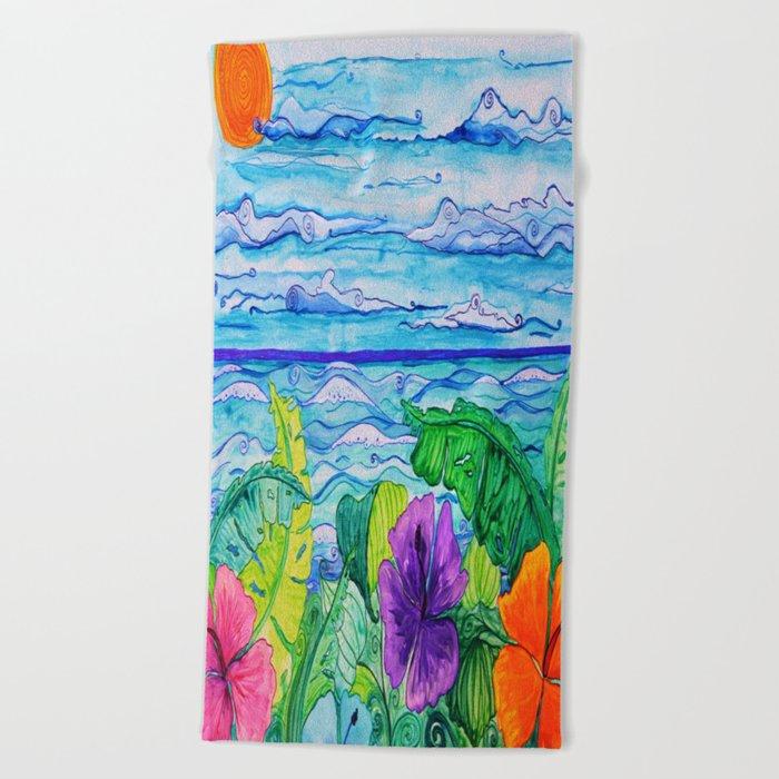 Lanai View Beach Towel