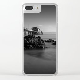 Mumbles pier and rocks Clear iPhone Case