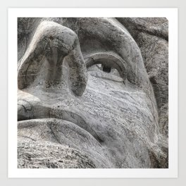 Rushmore Face of Jefferson Art Print