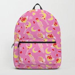 Sailor Moonie on Pink Backpack