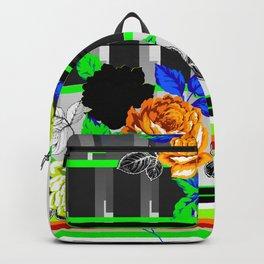 Chintz Rose Orange & Green Backpack