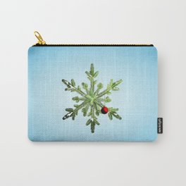 Winter Holidays Pine Snowflake Carry-All Pouch