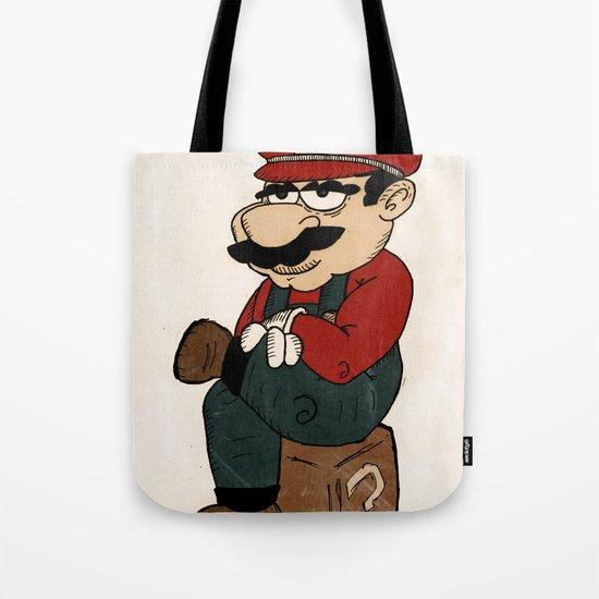 Super Bored Mario Tote Bag