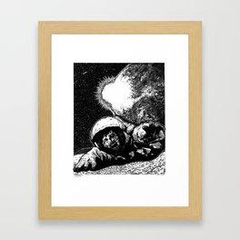 Astro Zombie Framed Art Print