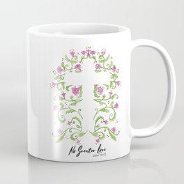 No Greater Love Floral Cross Coffee Mug