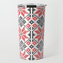 Romanian Traditional Embroidery Travel Mug