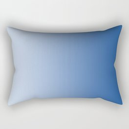 Pastel Blue to Blue Vertical Linear Gradient Rectangular Pillow