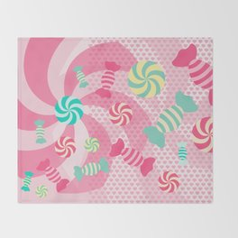Pastel Sugar Crush Throw Blanket