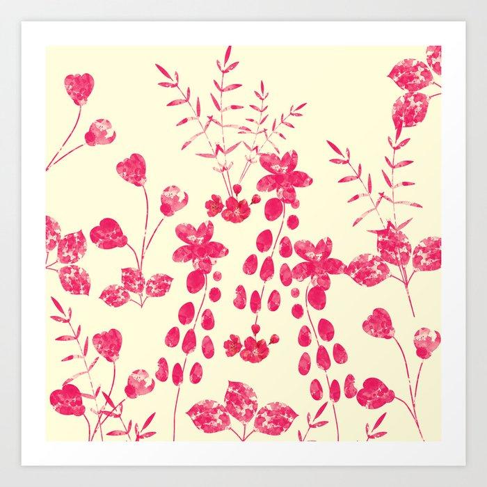 Watercolor floral garden  II Art Print