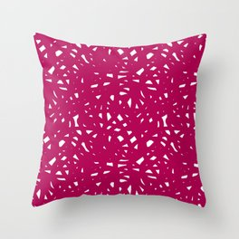 Pink Freeform Throw Pillow