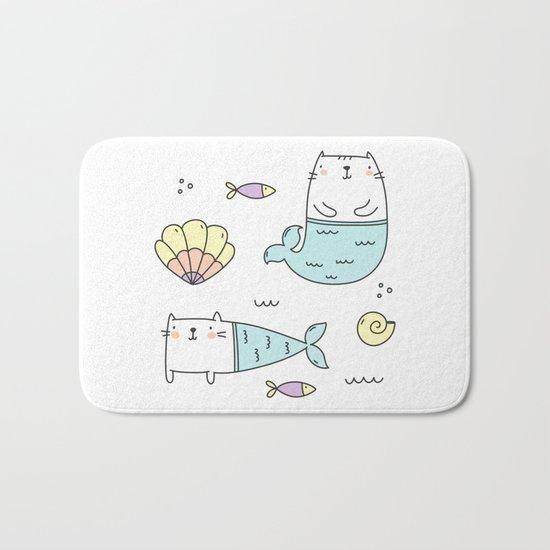 Ocean Merkitties Bath Mat