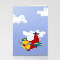 plane Stationery Cards featuring plane by Alapapaju