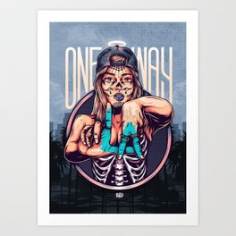 One Way Art Print
