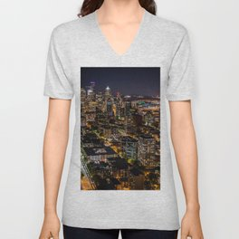 Seattle Nights Unisex V-Neck