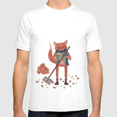 Ferdinand the Fall Fox Mens Fitted Tee SMALL White