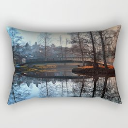 A bridge, the river and reflections | waterscape photography Rectangular Pillow