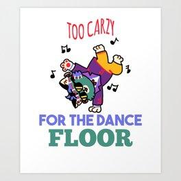 Halloween hip hop breakdance dancing cat Art Print