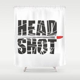 Headshot Shower Curtain