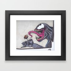 How Many Licks Does it Take to get to the center of a toostie Pop Framed Art Print