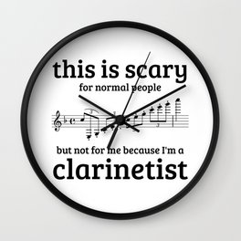 Not scary for clarinetists Wall Clock