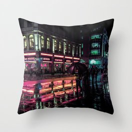 London Nights / Liam Wong Throw Pillow