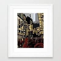 blade runner Framed Art Prints featuring Blade Runner by A. Provost
