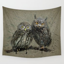 Little owl's background Wall Tapestry