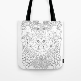 Mirrored Flowers Tote Bag