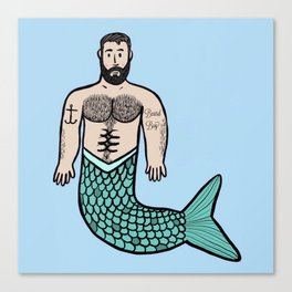 Beard Boy Merman: Troy Canvas Print