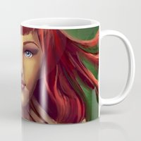 poison ivy Mugs featuring Poison Ivy by Valérie Loetscher (Vay)