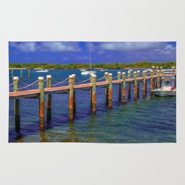 Boat Ramp To Paradise Rug