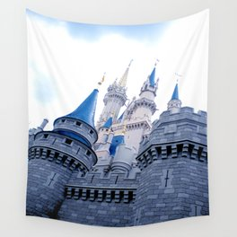 Disney Castle In Color Wall Tapestry