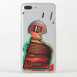 PAWN / Black / Chess Clear iPhone Case