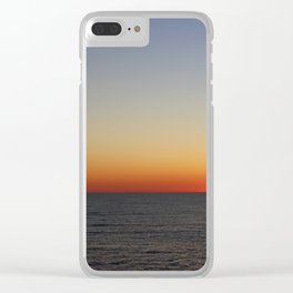 Sunset on Open Waters Clear iPhone Case