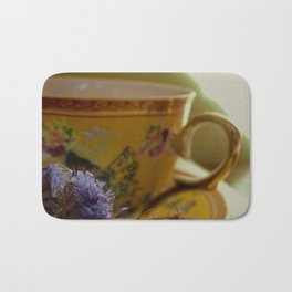 mourning cup of tea Bath Mat