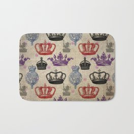 Regal Pattern in Crowns Bath Mat