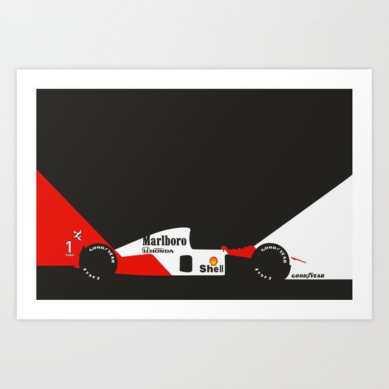 MP4/6 Art Print
