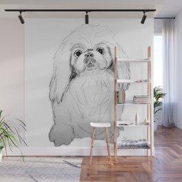 Cartoon Pekingese Dog Wall Mural